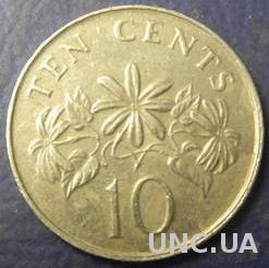10 центів 1987 Сінгапур