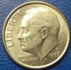 10 центів 1993 D США