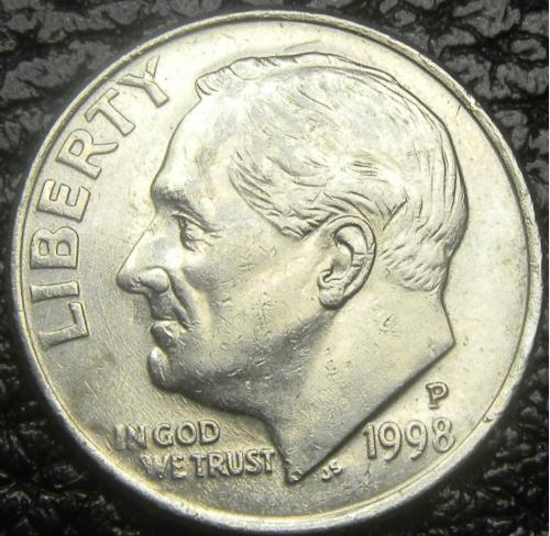 10 центів 1998 P США