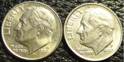 10 центів 1998 США (два різновиди)