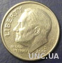 10 центів 2000 D США