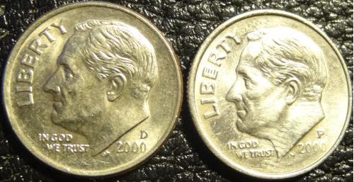 10 центів 2000 США (два різновиди)