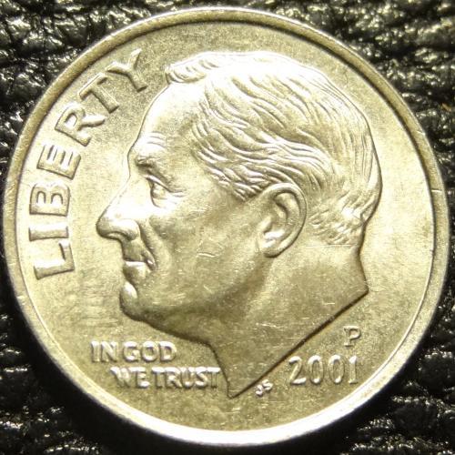 10 центів 2001 P США