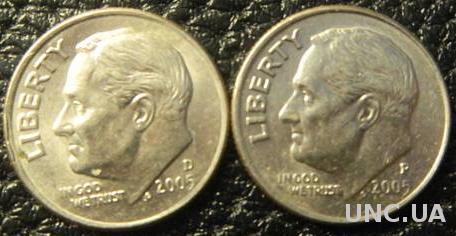 10 центів 2005 США (два різновиди)