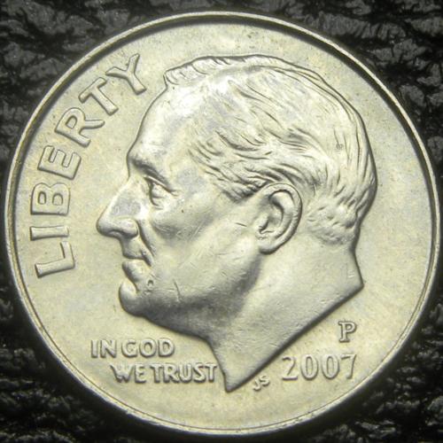 10 центів 2007 P США