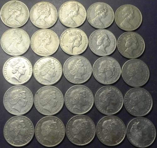 10 центів Австралія (порічниця) 25шт, всі різні