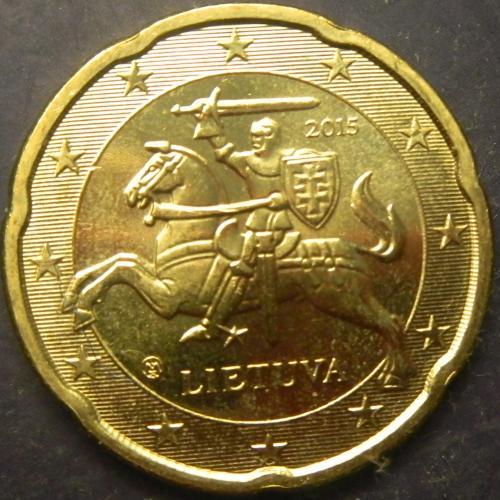 20 євроцентів 2015 Литва UNC
