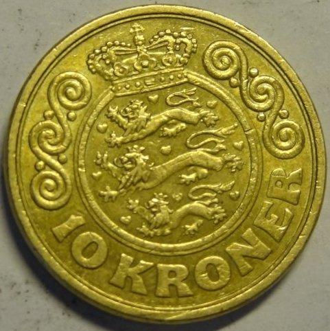 10 крон 1989 Данія