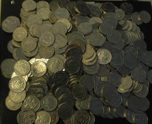 10 пенсів Британія 500шт суперлот (нижче курсу)