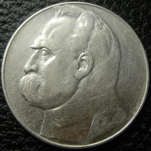 10 злотих 1936 Польща Пілсудський срібло