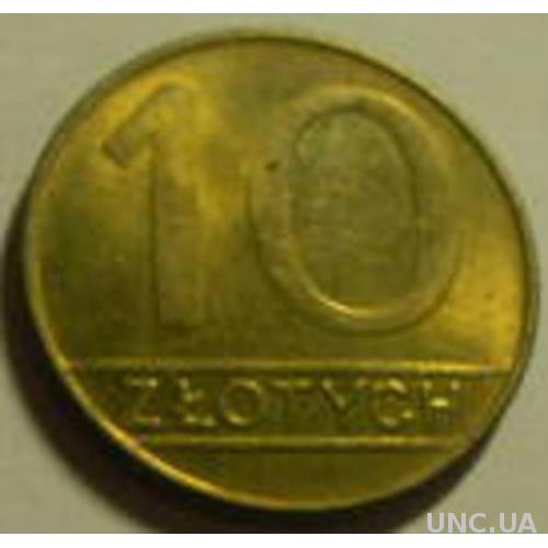 10 злотих 1990 Польща