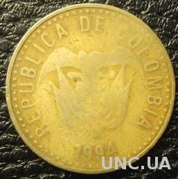 100 песо 1994 Колумбія