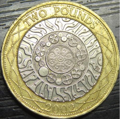 2 фунта 2002 Британія