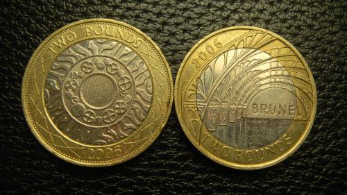 2 фунти 2006 Британія (два різновиди)