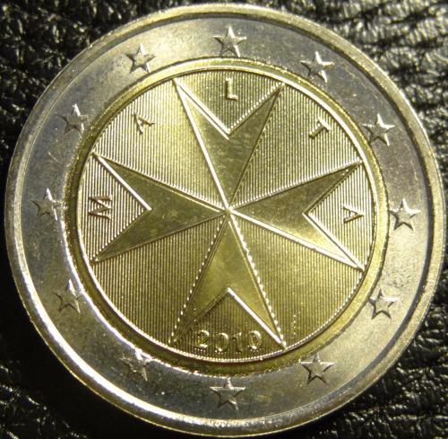 2 євро 2010 Мальта UNC нечаста
