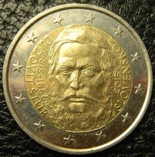 2 євро 2015 Словаччина  Людовит Штур