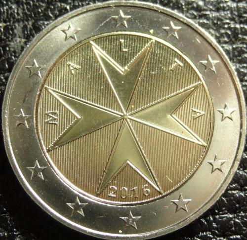 2 євро 2016 Мальта UNC рідкісна