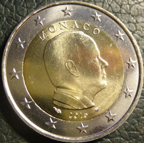2 євро 2016 Монако UNC рідкісна