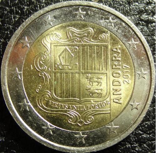 2 євро Андорра 2017 рідкісна