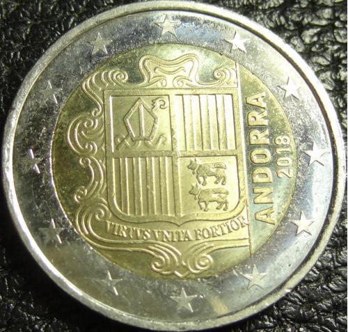 2 євро Андорра 2018 рідкісна