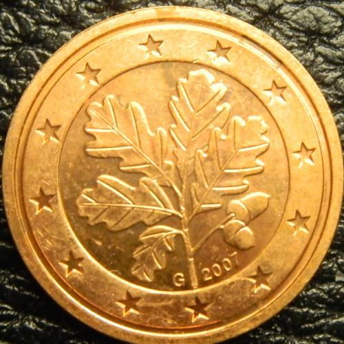 2 євроценти 2007 G Німеччина