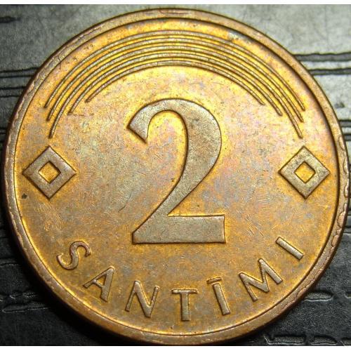 2 сантима Латвія 2007