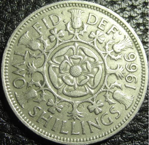 2 шилінга (флорін) 1966 Британія