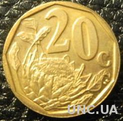 20 центів 2004 Південна Африка