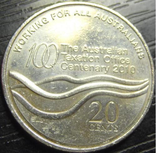 20 центів Австралія 2010 Податкове управління