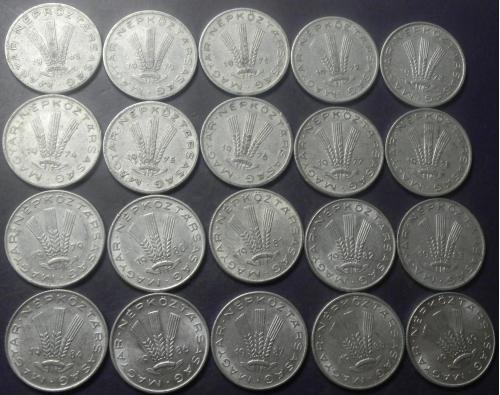 20 філлерів Угорщина (порічниця) 20шт, всі різні