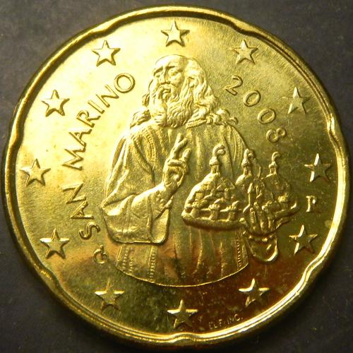 20 євроцентів 2008 Сан-Маріно UNC
