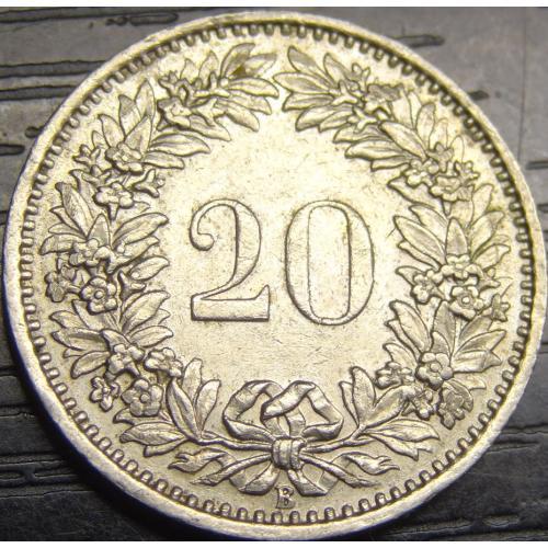 20 рапенів 1966 B Швейцарія