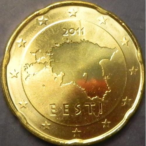 20 євроцентів 2011 Естонія UNC