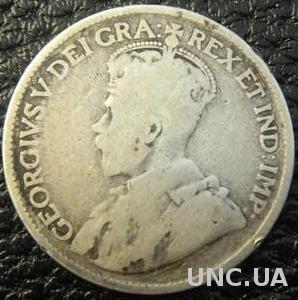 25 центів 1919 Канада срібло