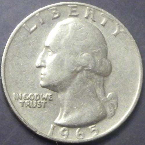 25 центів 1965 США