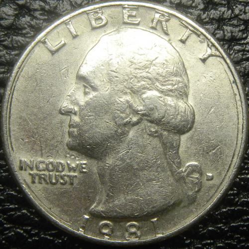 25 центів 1981 D США