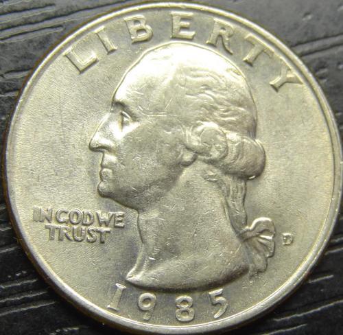 25 центів 1985 D США