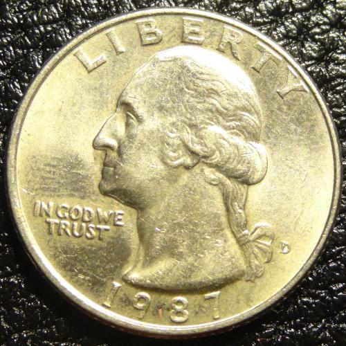 25 центів 1987 D США