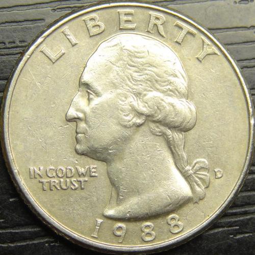 25 центів 1988 D США