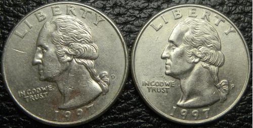 25 центів 1997 США (два різновиди)