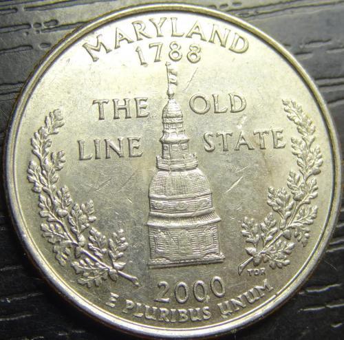 25 центів 2000 D США Меріленд