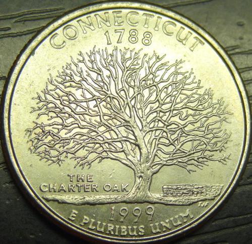 25 центів 1999 P США Коннектікут