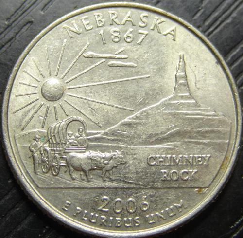25 центів 2006 D США Небраска