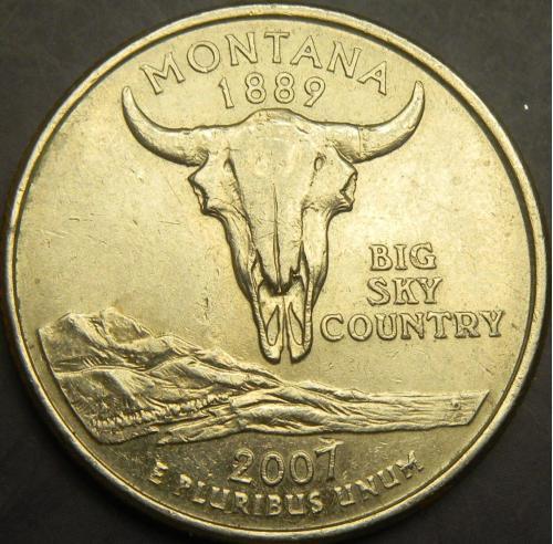 25 центів 2007 P США Монтана
