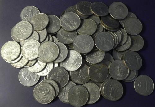 25 центів США 100шт суперлот
