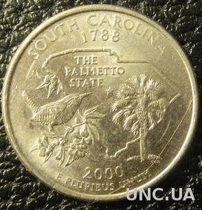 25 центів США 2000 P Південна Кароліна
