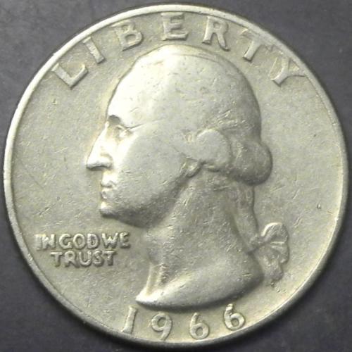 25 центів 1966 США