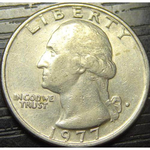 25 центів 1977 D США