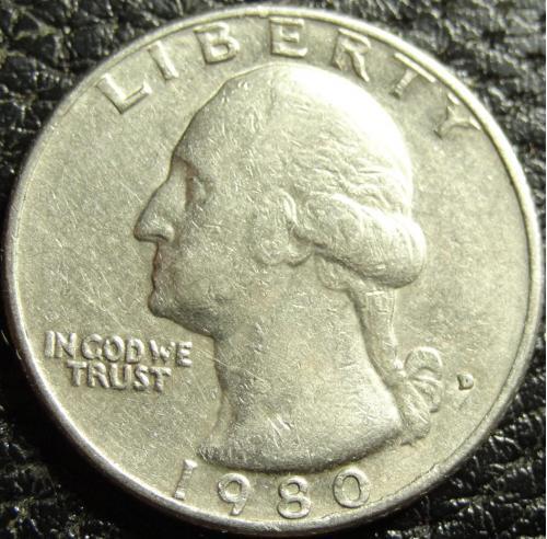 25 центів 1980 D США