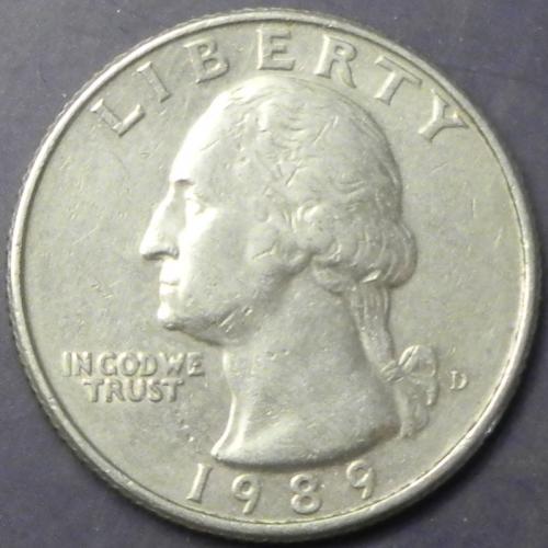25 центів 1989 D США